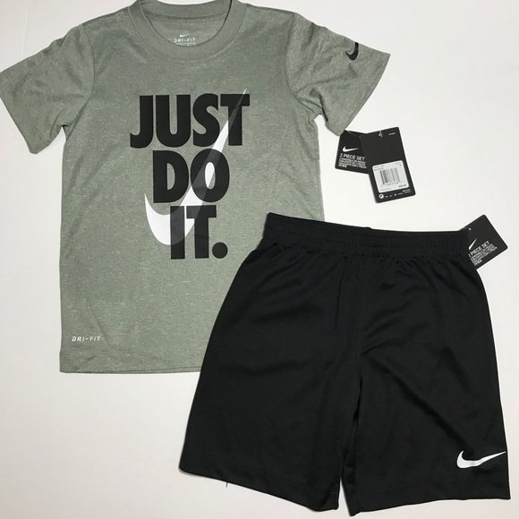 Nike Pants Shirt 2 piece Set Bodysuit Boys Girls Sports Athletic Outfit LS Baby